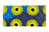 Blue Dots Ankara Clutch Purse