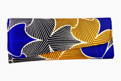 Cool Blue Ankara Clutch Purse