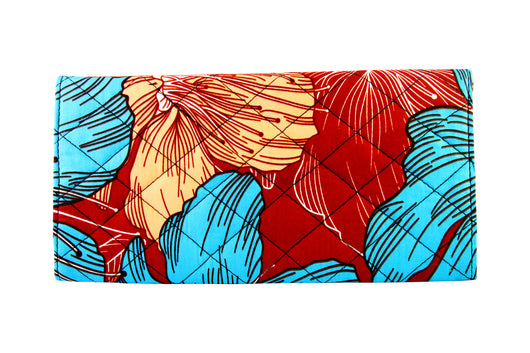Cool Red Ankara Clutch Purse