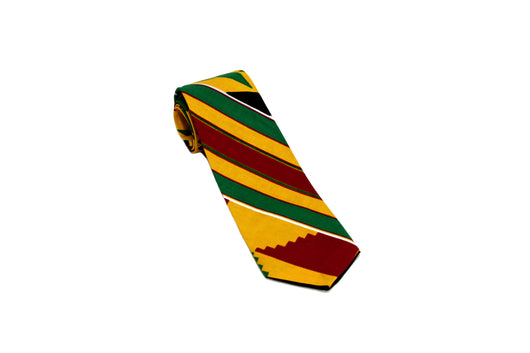 Green Peace Kente Neck Tie Pocket Square Set