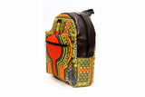Leather MEDIUM Grey Angelina Dashiki Backpack