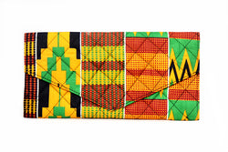 Green Steps Kente Clutch Purse