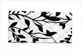 Black Floral Ankara Clutch Purse