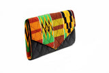 Black Steps Kente Clutch Purse