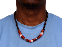 African Wood Necklace Bone