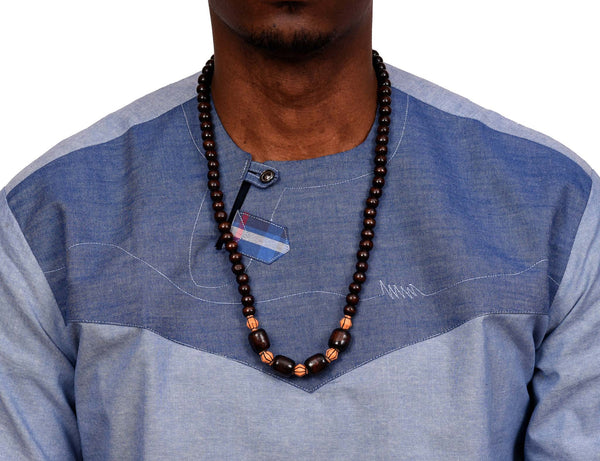 JIDE Gear African Wood Necklace Dark Brown