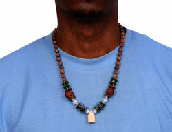 African Wood Bone Necklace
