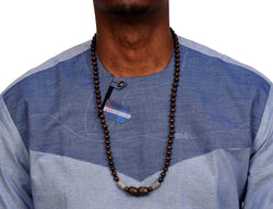 JIDE Gear African Wood Necklace Gray Terra Cotta