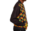 Kente Body Black Blend Men's Bomber Jacket