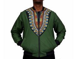 Dashiki Green Blend Men's Bomber Jacket