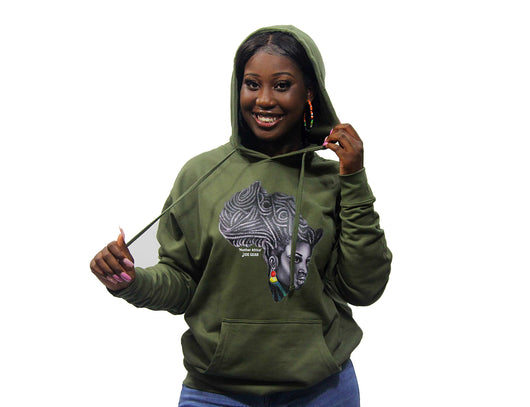 Mother Africa Hoodie Army Green
