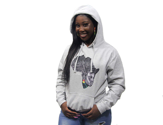 Mother Africa Hoodie Grey