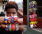 Jide Gear Snap Ankara Bangle Model