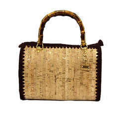 Jide Gear Bauletto Cork Crochet Bag Front