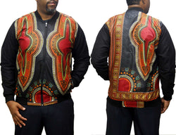Double Flow Dashiki Black Men's Bomber Jacket