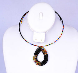 Jide Gear Black Multicolor Beaded Necklace