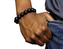 Jide Gear Black Wood Bracelet Front