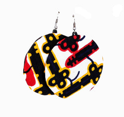 Jide Gear Blackkey Moon Ankara Earring
