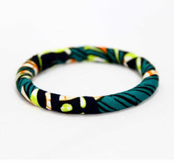 Jide Gear Blackstroke Slim Ankara Bangle