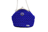 Jide Gear Blue Bowl Crochet Bag Front