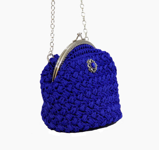 Jide Gear Blue Bowl Crochet Bag Side