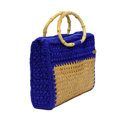 Jide Gear Blue Vienna Crochet Bag Side