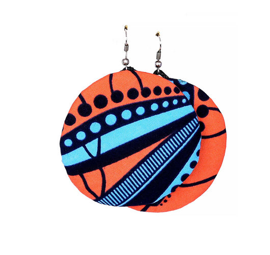 Jide Gear Blueswipe Moon Ankara Earring