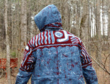 Jide Gear Bluewave Batik Men Winter Jacket Back Forest