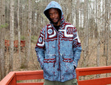 Jide Gear Bluewave Batik Men Winter Jacket Front Forest