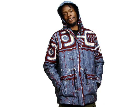 Jide Gear Bluewave Batik Men Winter Jacket Front