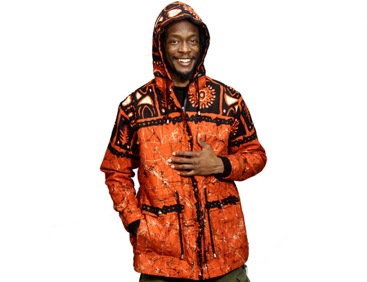 Jide Gear Cherrygroove Batik Men's Winter Jacket Front