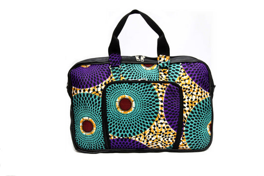 Jide Gear Dots Laptop Ankara Bag Front