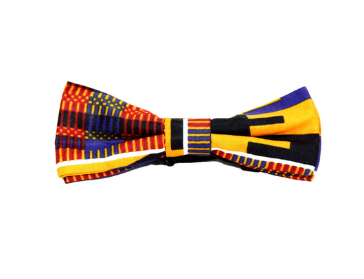 Jide Gear Diamond Kente Boys Bow Tie