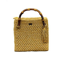 Jide Gear Gold Handbag Crochet Bag Front