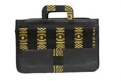Jide Gear Goldstripe Laptop Aso Oke Bag Front