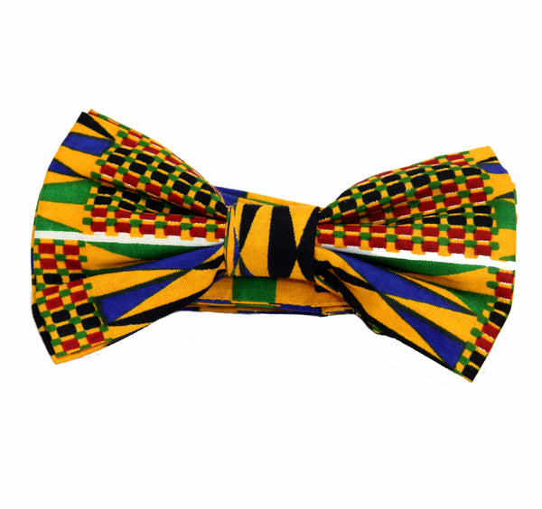 Jide Gear Greenblocks Kente Pretie Bow-tie