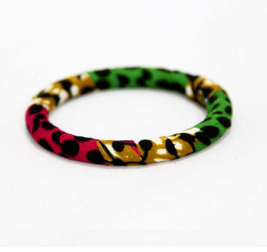 Jide Gear Greendot Slim Ankara Bangle