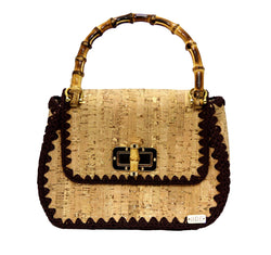 Jide Gear Handbag Cork Crochet Bag Front
