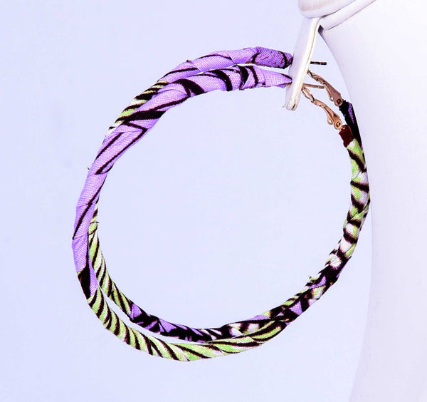 Jide Gear Lilac Loop Ankara Earring