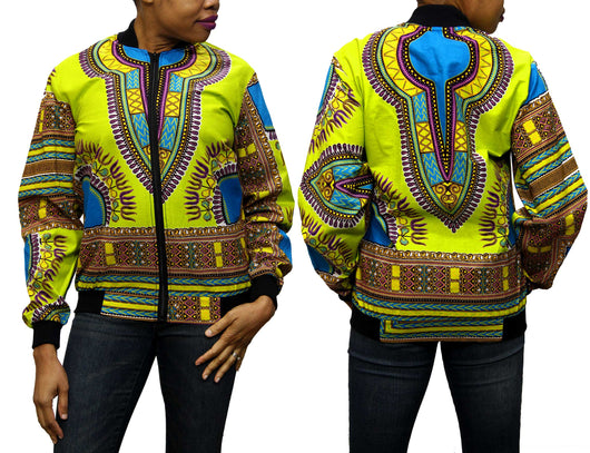 Limegreen Dashiki Women's Jogger Top