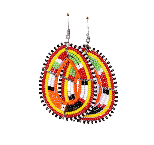 Jide Gear Multicolor Beaded Earrings Model