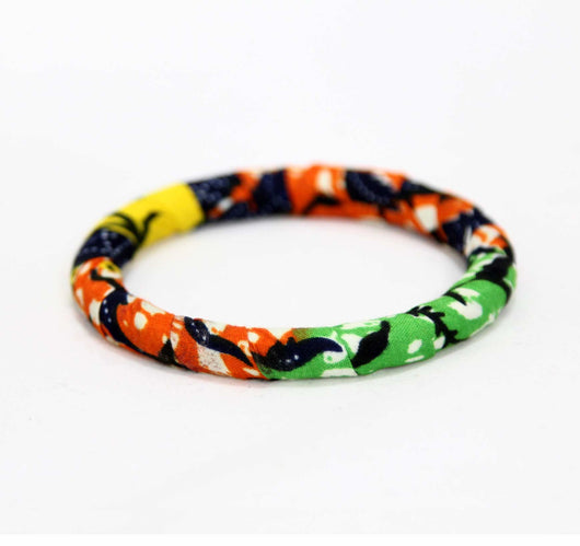 Jide Gear Multicolor Slim Ankara Bangle