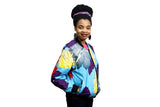 Jide Gear Multifloral Ankara Female Bomber Jacket Side
