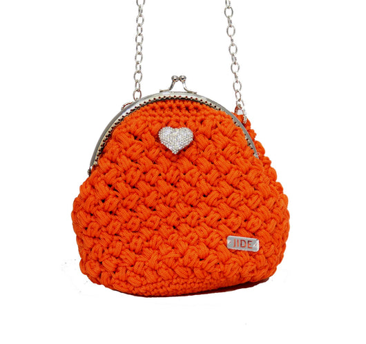 Jide Gear Orange Bowl Crochet Bag Front