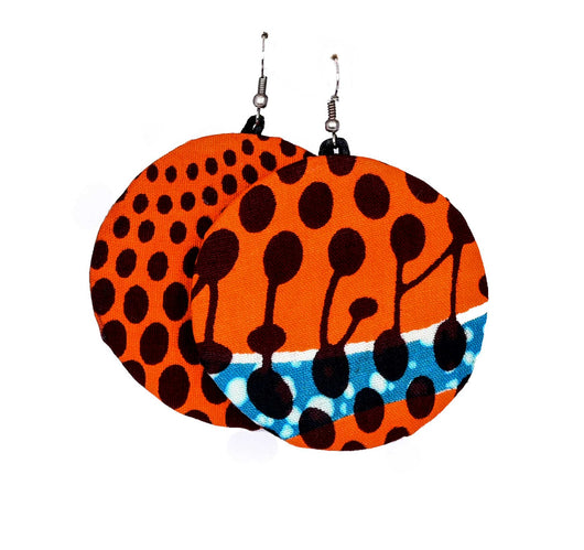 Jide gear Orange Moon Ankara Earring