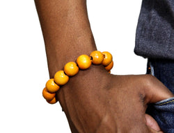 Jide Gear Orange Wood Bracelet Front