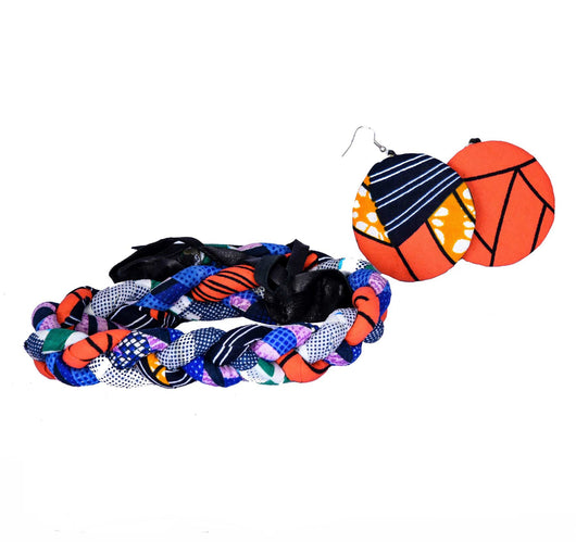 Jide Gear Orangeblue Headband Necklace