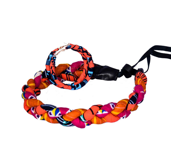 Jide Gear Orangepink Headband Necklace