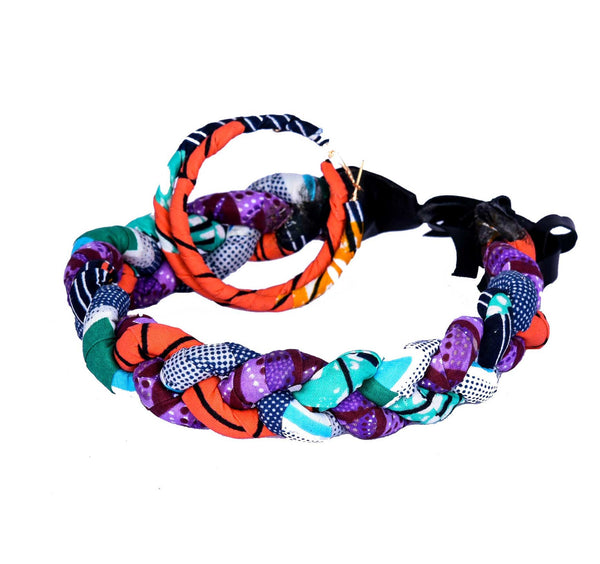 Jide Gear Orangepurple Headband Necklace