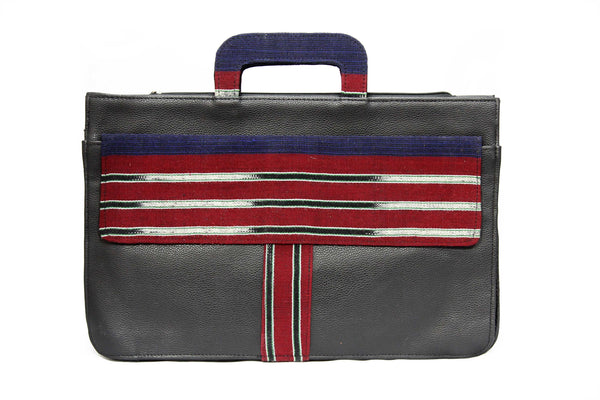 Jide Gear Redbar Laptop Aso Oke Bag Front